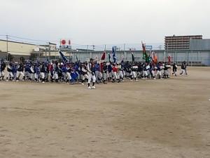 宇部市東岐波少年野球クラブ35周年記念大会開会式|原タイガース.net
