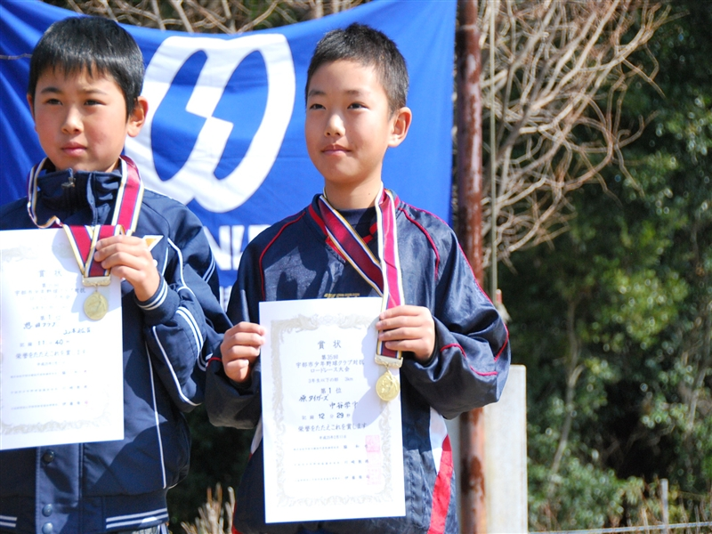 「3年生の部」優勝の中谷学斗選手